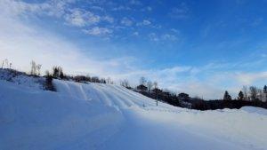 Big snow slides