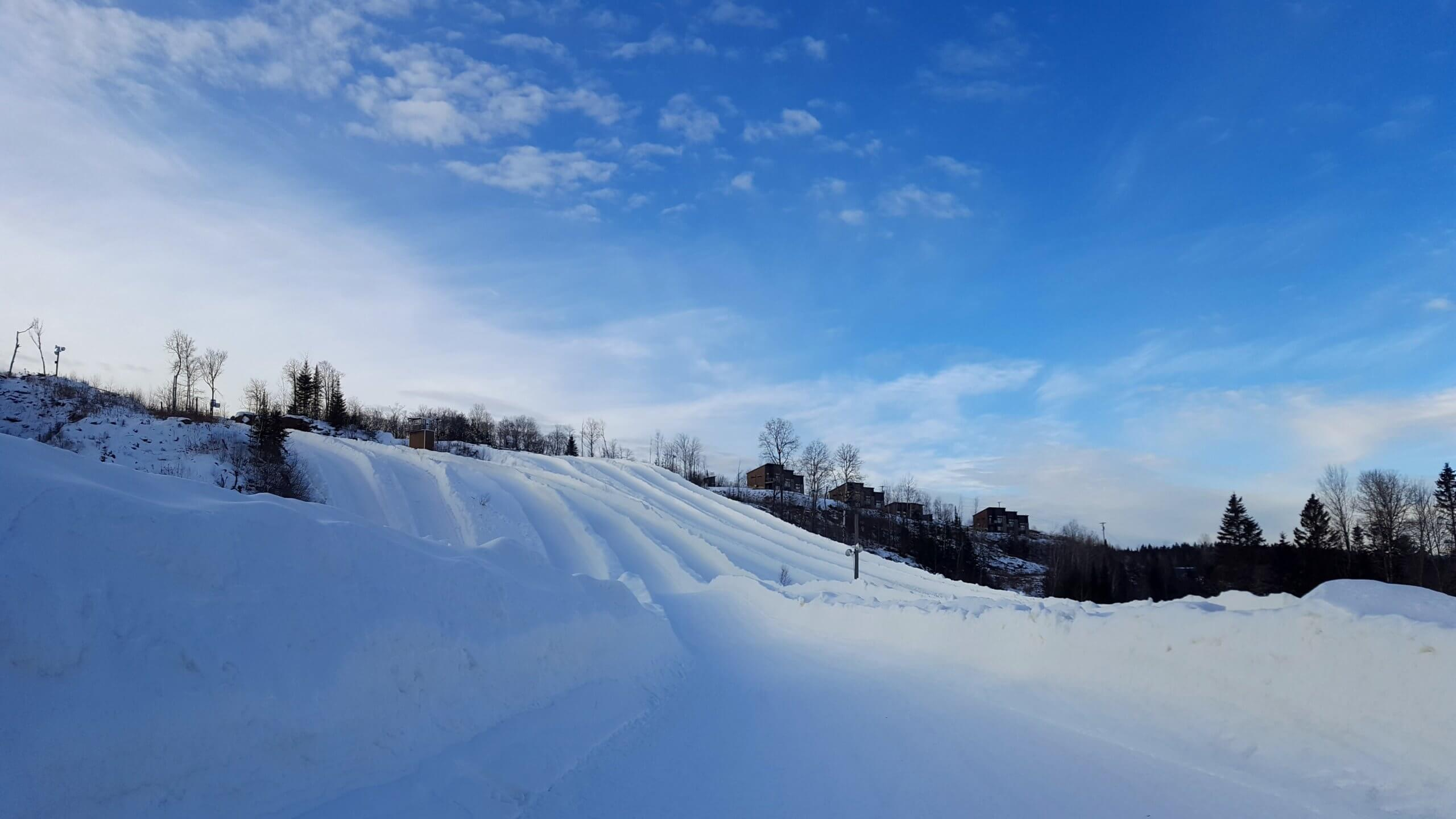 Big snow slides